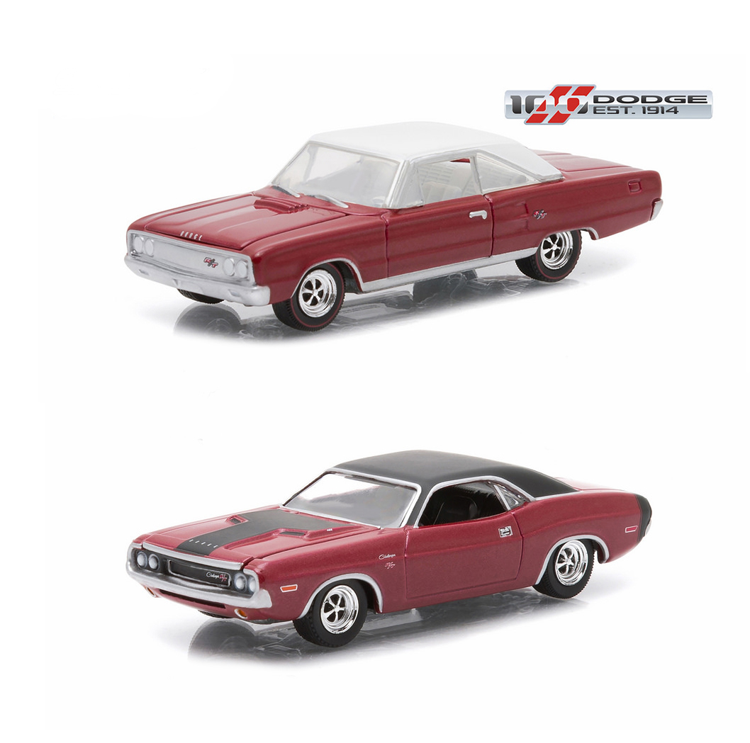 set of 2 greenlight 1967 dodge coronet and 1970 dodge. Black Bedroom Furniture Sets. Home Design Ideas